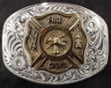 Fireman's Maltese Cross Belt Buckle