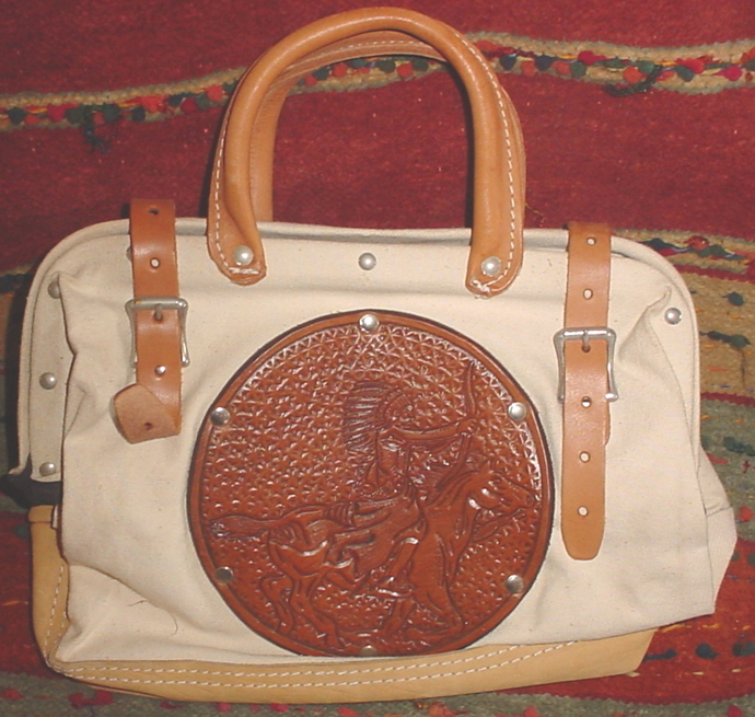 Ladies Roper Purse Indian On Horse